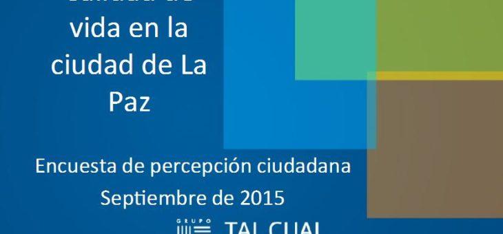 Informe de la Encuesta de percepción de calidad de vida 2015