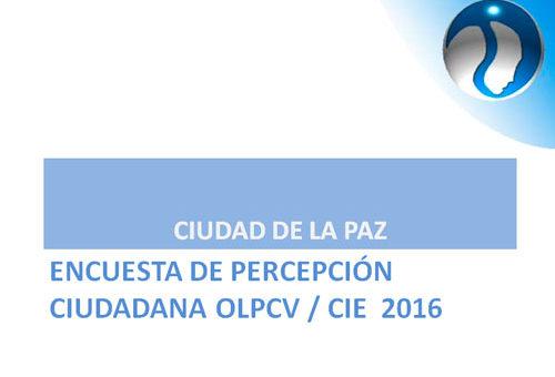Informe de la Encuesta de percepción de calidad de vida 2016