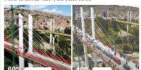 El Puente Gemelo poco a poco descongestiona el tráfico paceño