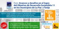 Avances y desafíos en el logro del ODS 11 en La Paz y Tarija.
